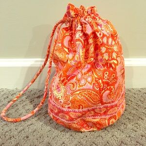 Vera Bradley drawstring toiletries bag