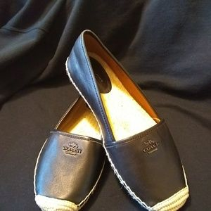 NEW leather Coach Flats