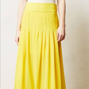 Anthropologie Yellow Skirt