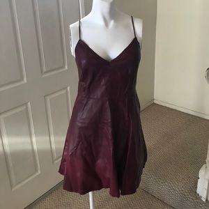 Large Charlotte Russe pleather dress