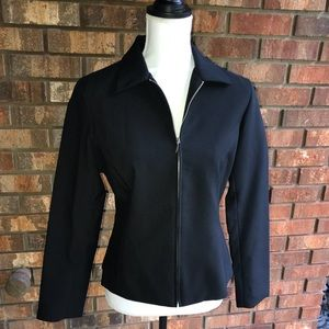 New York &Co. Black zip Blazer size 4