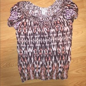 Multi colored shirt. American rag