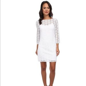 Lily Pulitzer dress large Topanga white lace