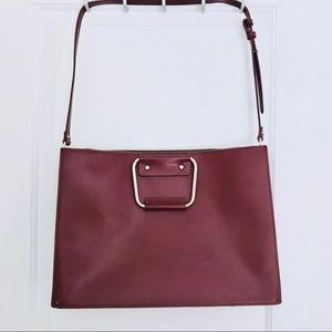 ZARA Trafaluc Maroon Tote Bag