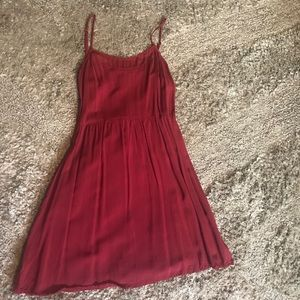 Burgundy casual dress from H&M
