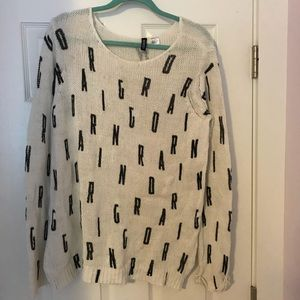 """Roaring"" H&M oversized sweater"