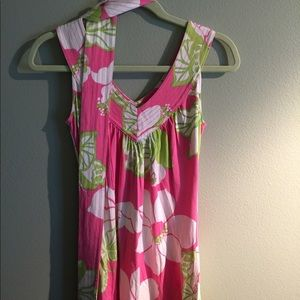 Lilly Pulitzer silk Jersey Dress w/ belt XS