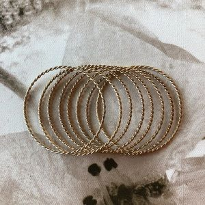 Set of 8 Gold Bangles