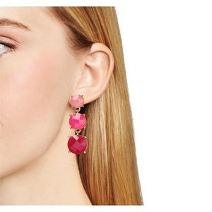 Kate Spade Smell The Roses Pink Drop Earrings