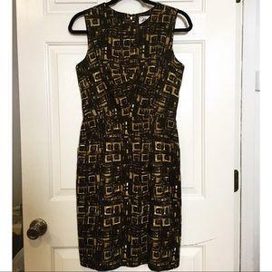 Milly Geometric Style Sheath Dress