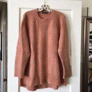 🌸 ZARA Knit Oversized Crew Neck Sweater