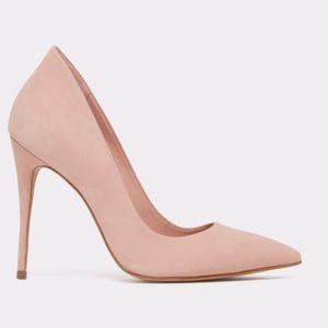 Suede Light Pink Pointed Heel Aldo