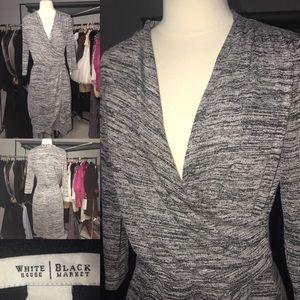 women's grey long sleeves dress