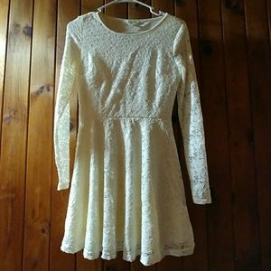 """Lacey"" long sleeved dress"