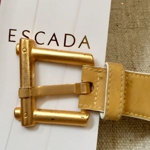 ESCADA Vintage Designer Yellow and Gold Belt