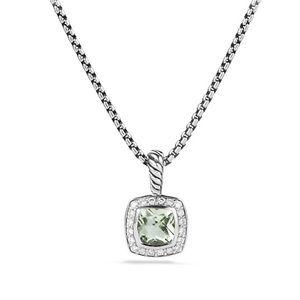 David Yurman Albion Pendant, Prasiolite & Diamonds