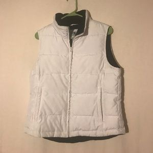White vest with black lining