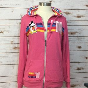 Disney Parks Mickey Mouse pink hoodie M