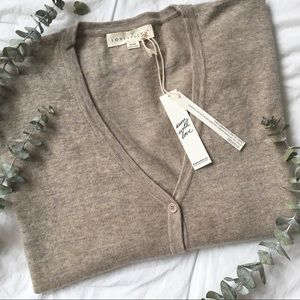 NWT Cozy Heathered Oatmeal Cardigan by LoveStitch