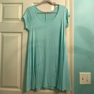 Mint blue T-shirt dress