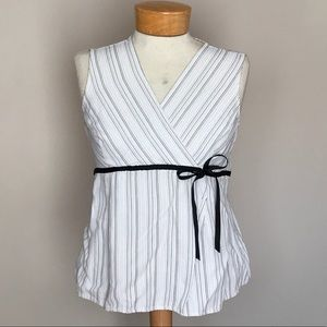 Motherhood Maternity stripe tank blouse. Medium