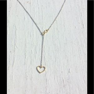 Sterling Infinite ❤️ Love Drop Necklace