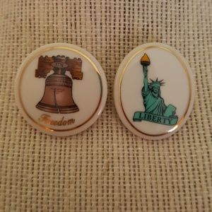 Vintage Liberty Bell/Statue of Liberty Pins