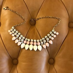 Jcrew pink and white necklace- like new