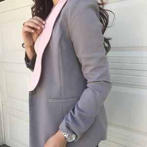 Forever 21 Pink & Gray Blazer
