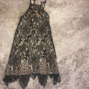 Halter black lace dress from Francesca's