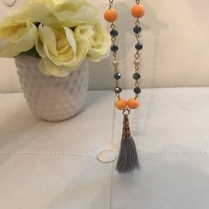 Hand-made long tassel necklace ✨✨