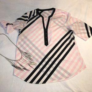 Striped dress blouse