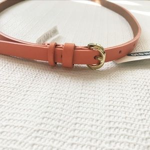 NWT Old Navy Skinny Belt Coral Pink Salmon NEW