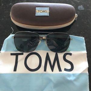 TOMS Aviator Sunglasses Gunmetal frame grey lens