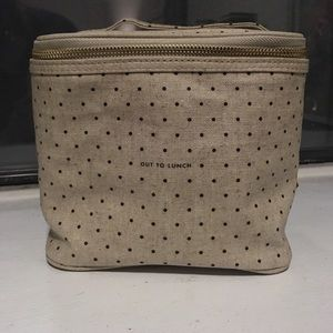 NWT Kate Spade polka dot lunch box.