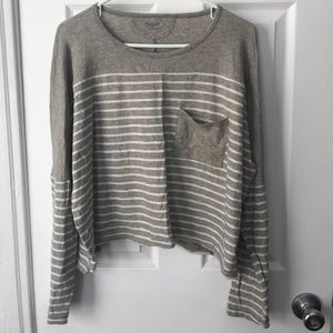 Madewell Relaxed Long-Sleeve Striped Top