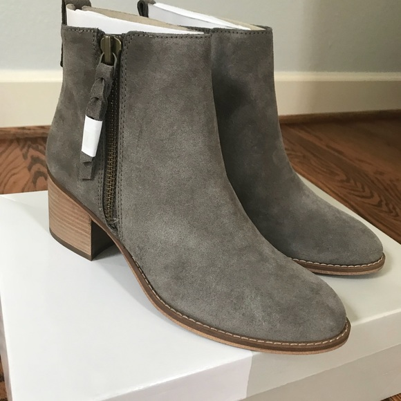6f54a1687d3bf BP Just Block Heel Bootie Color  Grey Suede
