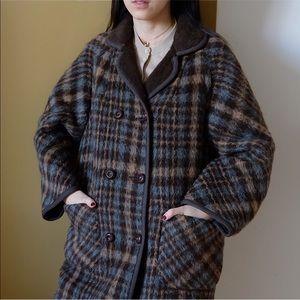 Warm reversible long coat