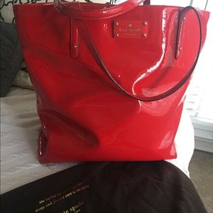 KATE SPADE Red Large Patent Leather Bag
