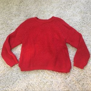 H&M Red Pullover Sweater