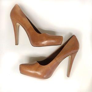ALDO leather tan heels