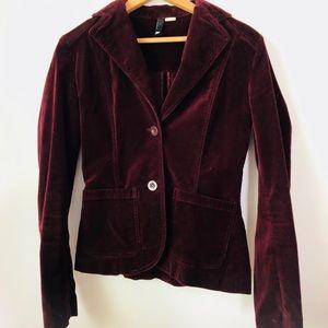 H&M Velvet Burgundy Jacket