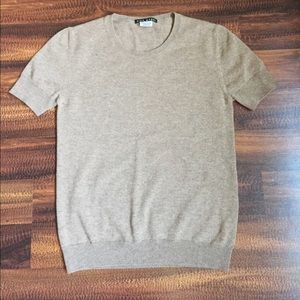 100% cashmere short sleeved sweater
