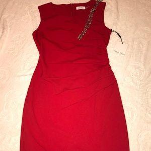 Calvin Klein red dress size 4!