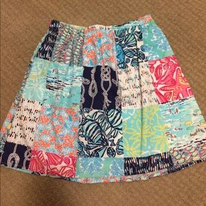 Patchwork print Lilly Pulitzer skirt