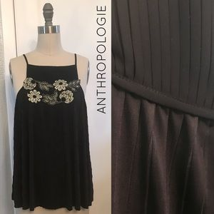 NWOT ANTHROPOLOGIE black pleated top by Deletta