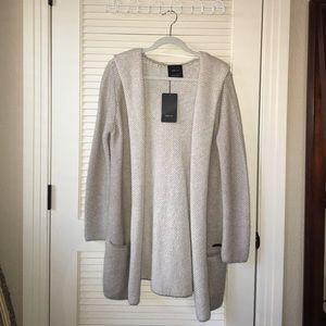 NWT Zara Knit Hoodie Cardigan w/contrasting lining