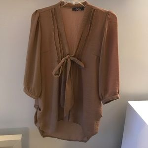 Tan blouse from Topshop