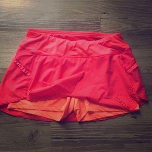 Hind running tennis skort skirt spandex pink neon