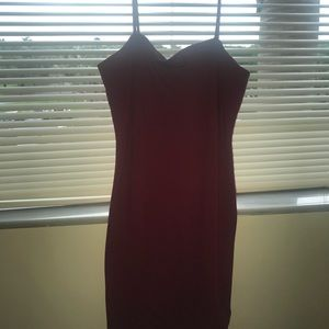 Deep Red Strappy Bodycon Dress